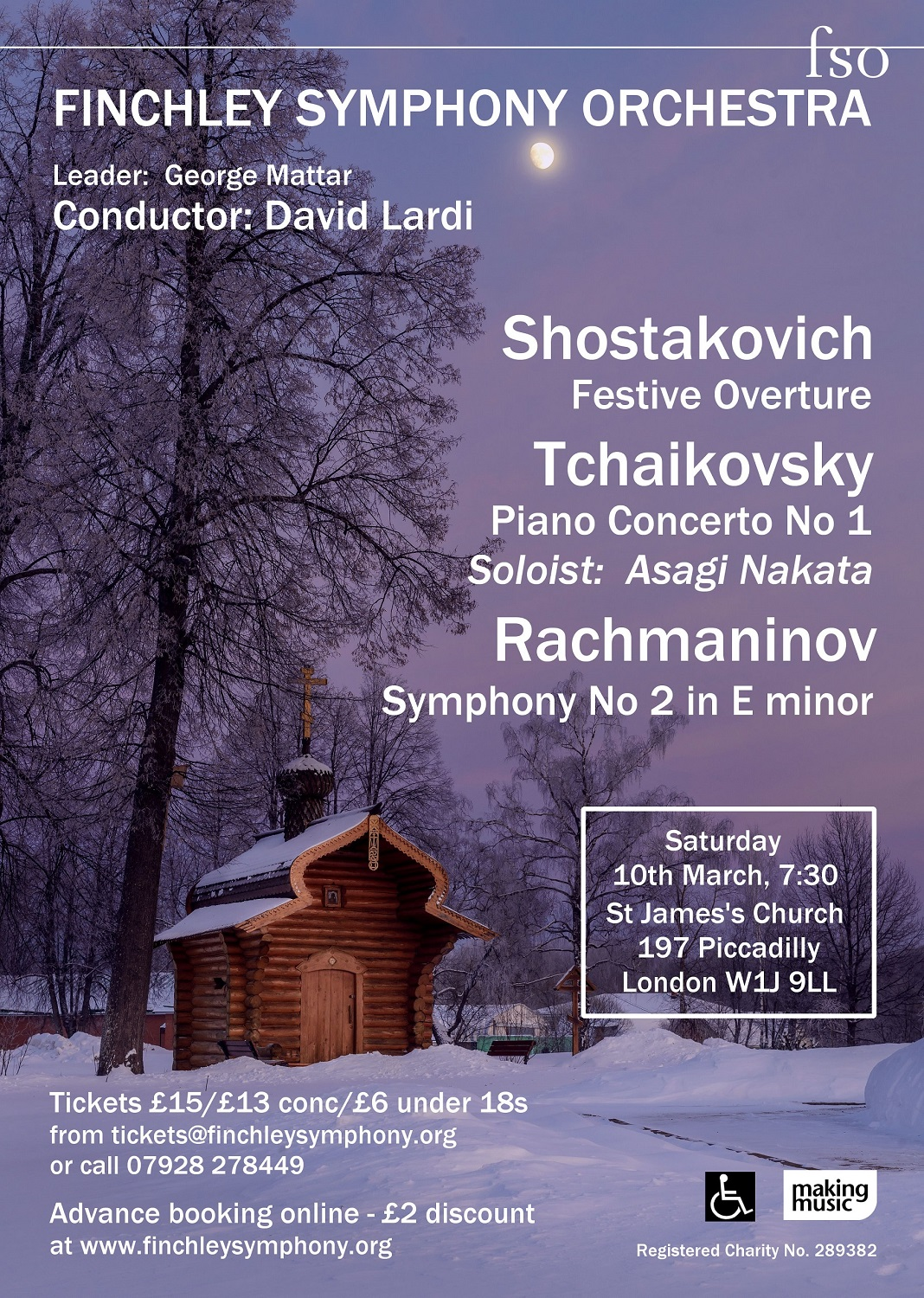 Poster for concert on